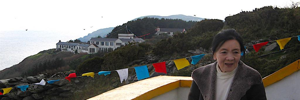 Mayumla Tsering Wangmo visits the long-term retreat area