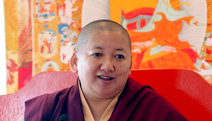 Jetsun Khandro rinpoche at Dzogchen Beara
